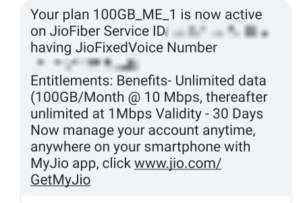 Reliance Jio is Activating 100GB at 10mbps Plan as a Surprise Gift?